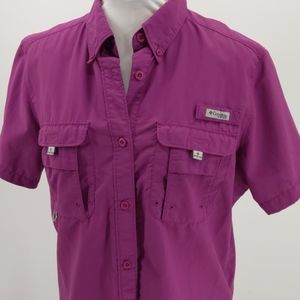 Columbia PFG Bahama short sleeve button down shirt